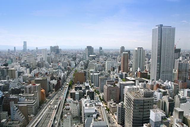 俯瞰してみた都会の風景