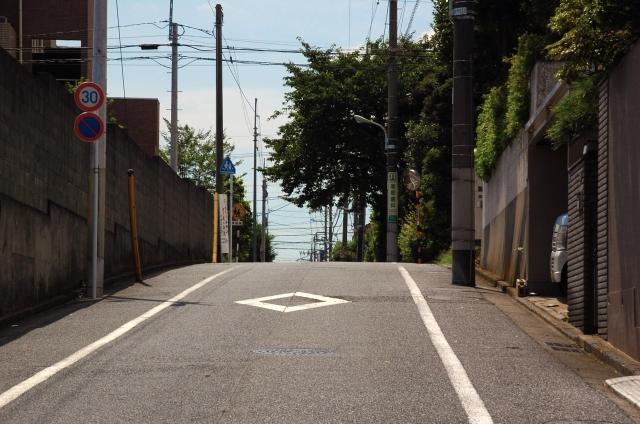 街の中を走る道路