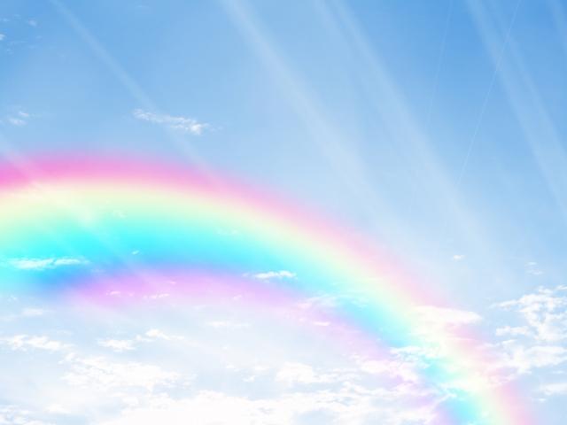 虹の浮かぶ青空