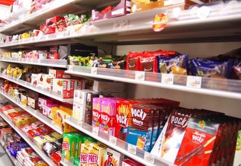 商品陳列棚(お菓子)